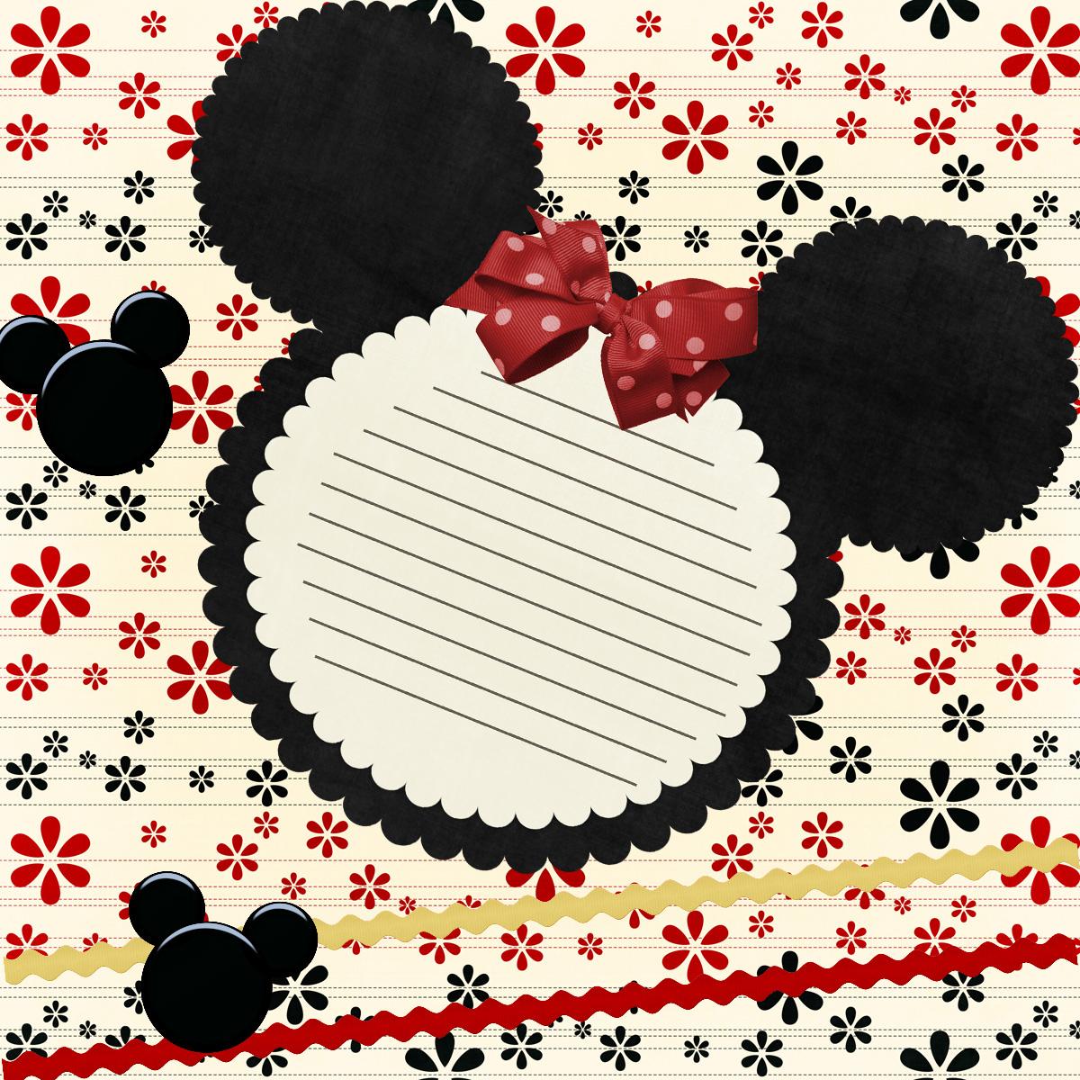 Feito com carinho de mãe Convite para festa da Minnie vermelha