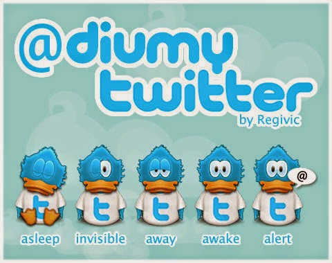 Diumy Twitter Icons Set