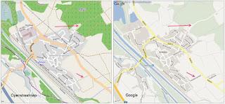 Vergleich Google / Openstreetmaps