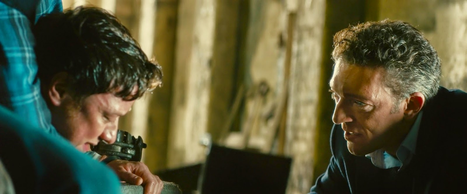 "James McAvoy and Vincent Cassel in ""Trance"""