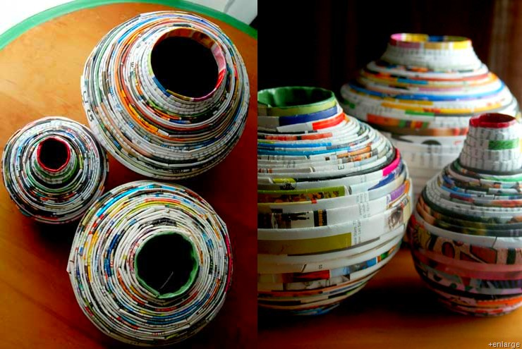 Magazine recycling love your planet for Best from waste material