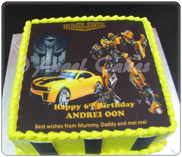 D Angel Cakes Transformer Bumblebee Cake For Andrei