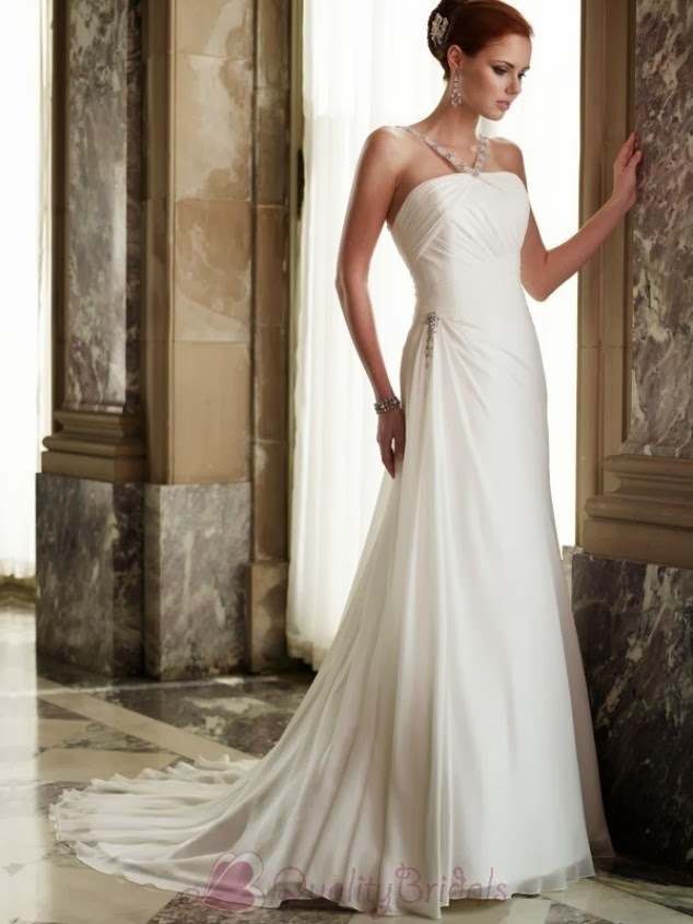 Wedding dress find elegant simple wedding dress for Simple elegant short wedding dresses