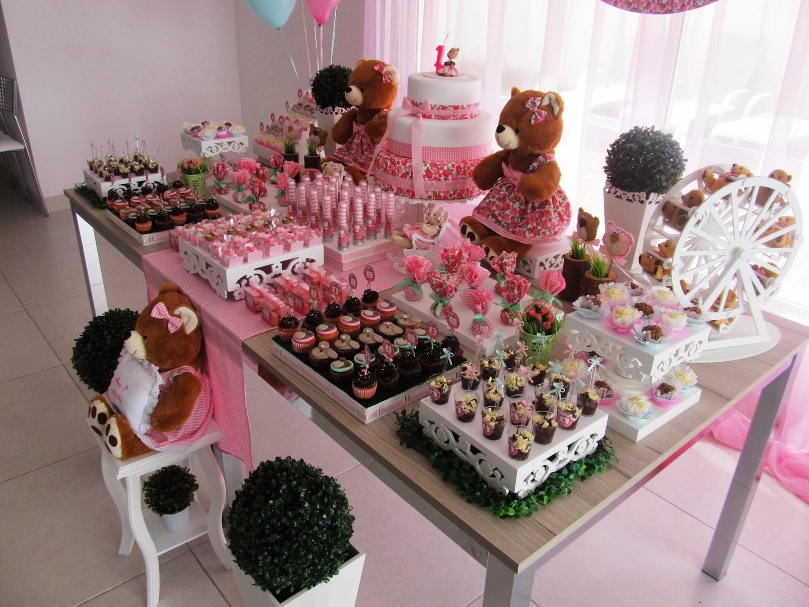 decoracao festa xadrez:DECORAÇÃO PROVENÇAL : Ursinhas Floral e Xadrez – Festa 1° aninho