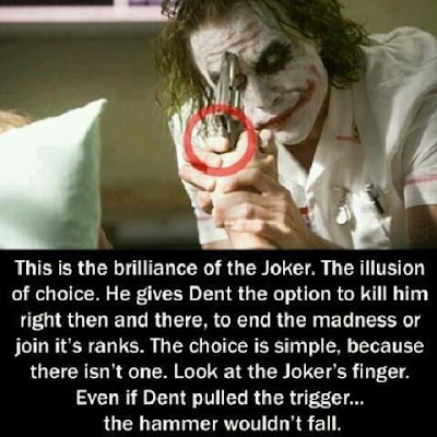 Jokers Illusion in The dark Knight- The leged