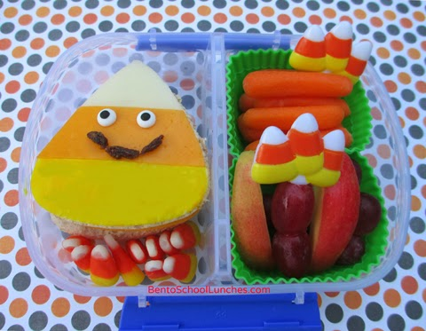 Candy corn bento lunch