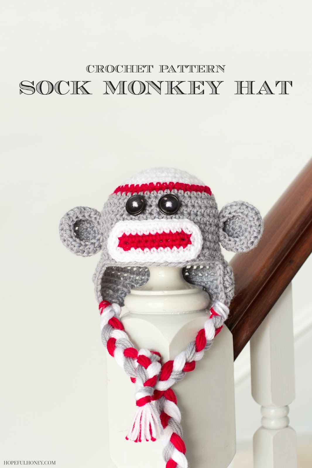 Free Crochet Patterns Monkey Hat : Sock Monkey Baby Hat - Media - Crochet Me