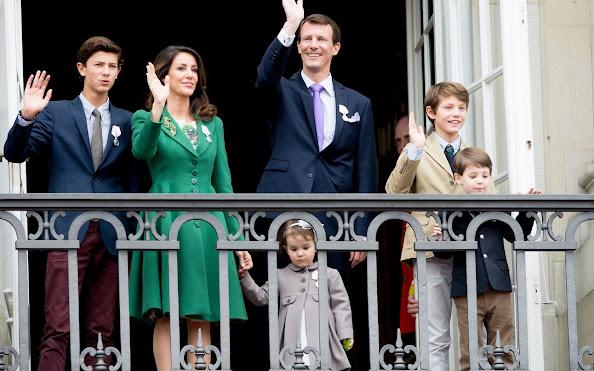 Prince Joachim, Princess Marie, Prince Felix, Prince Nikolai, Prince Henrik and Princess Athena of Denmark,