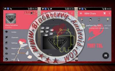 BBM Dual Pin Tema Fairy Tail New Versi 2.10.0.31 Apk
