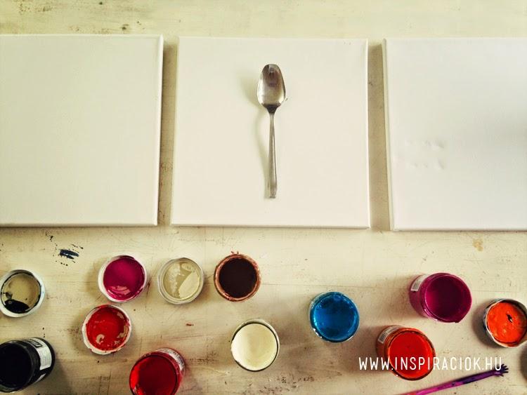kreatív ötlet kanálfestés