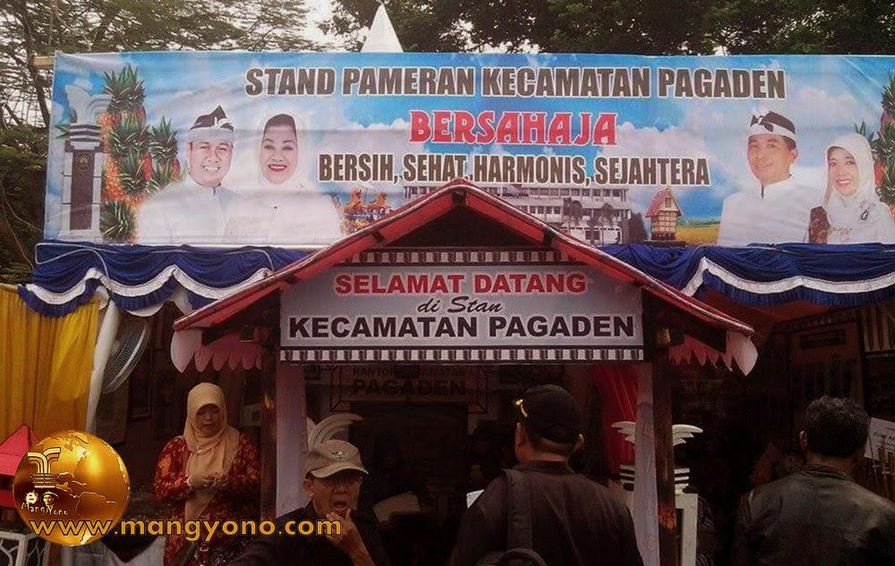 Stand Kec. Pagaden, Pameran Pembangunan 2015.