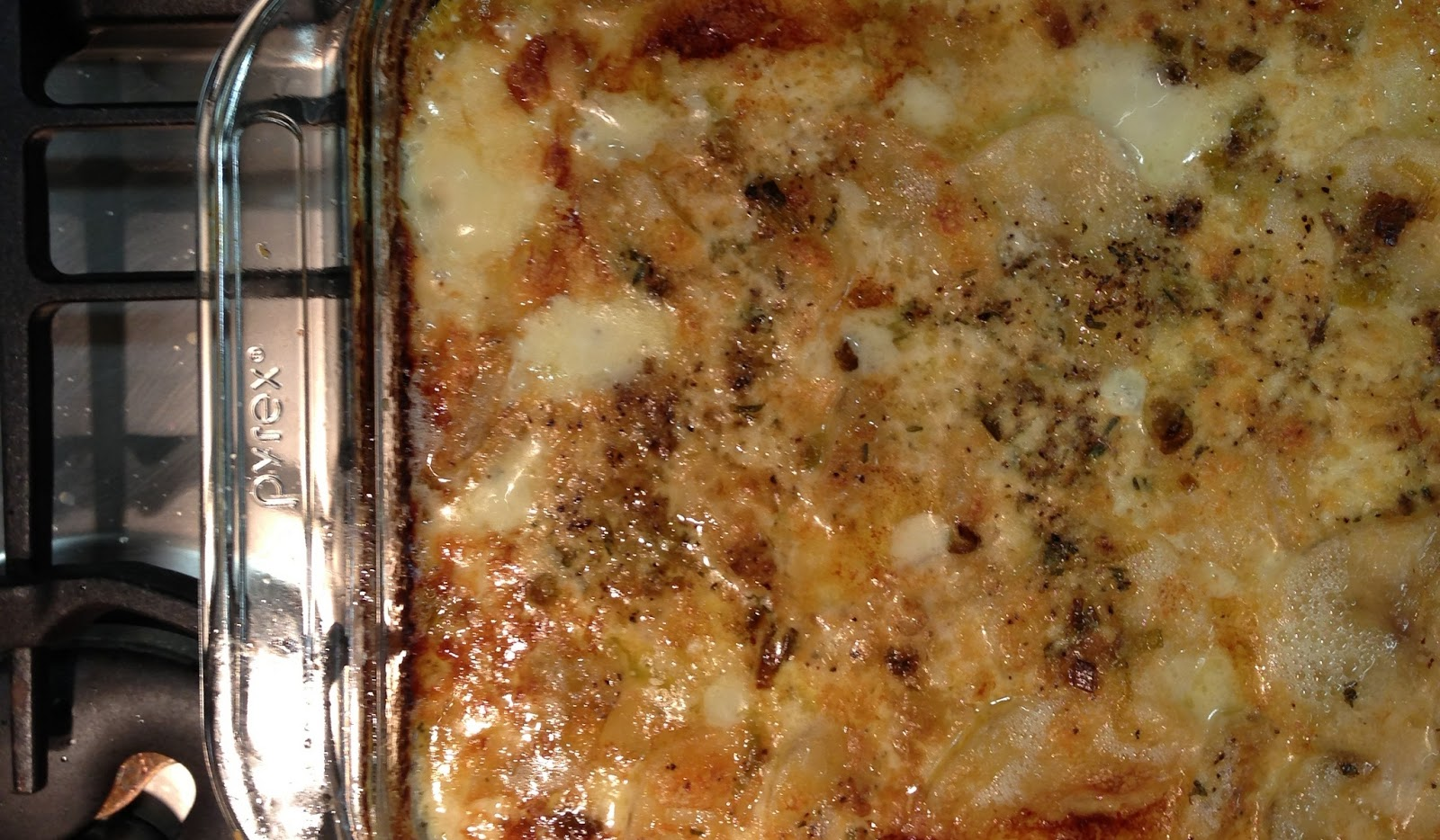 Finished Product - Potato, Celery Root and Leeks Gratin with a nice ...