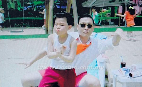 GAMBAR yang dirakamkan dari muzik video Oppa Gangnam Style di YouTube menunjukkan Hwang Min-woo menari bersama Psy.