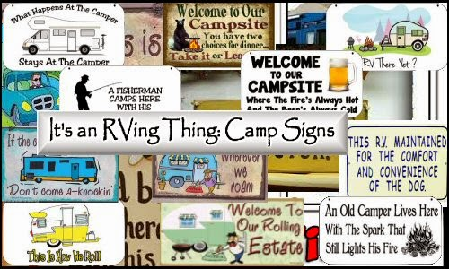 RVing thing: Camping signs