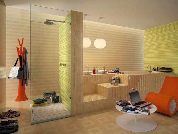 5 صور تصاميم حمامات عصرية   ديكورات حمامات كبيرة و ضيقة   الوان و نقوش حوائط حمامات مودرت