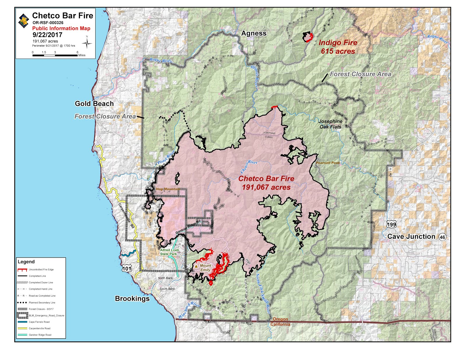 temporary flight restrictions tfr are in effect over the chetco bar fire area for more information see http tfr faa gov