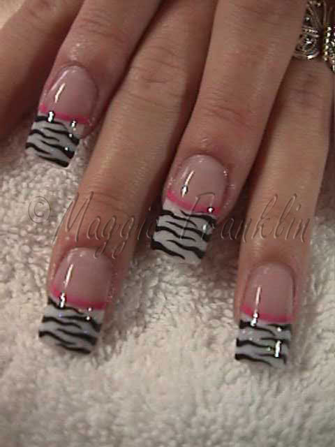 Zebra Acrylic Nails 82
