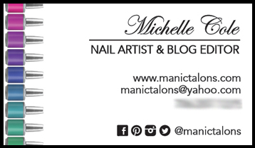 Manic Talons Business Card