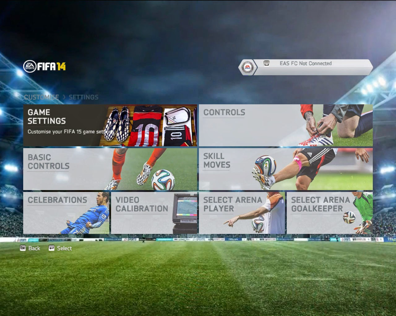 Fifa 14 patch with 15 updates