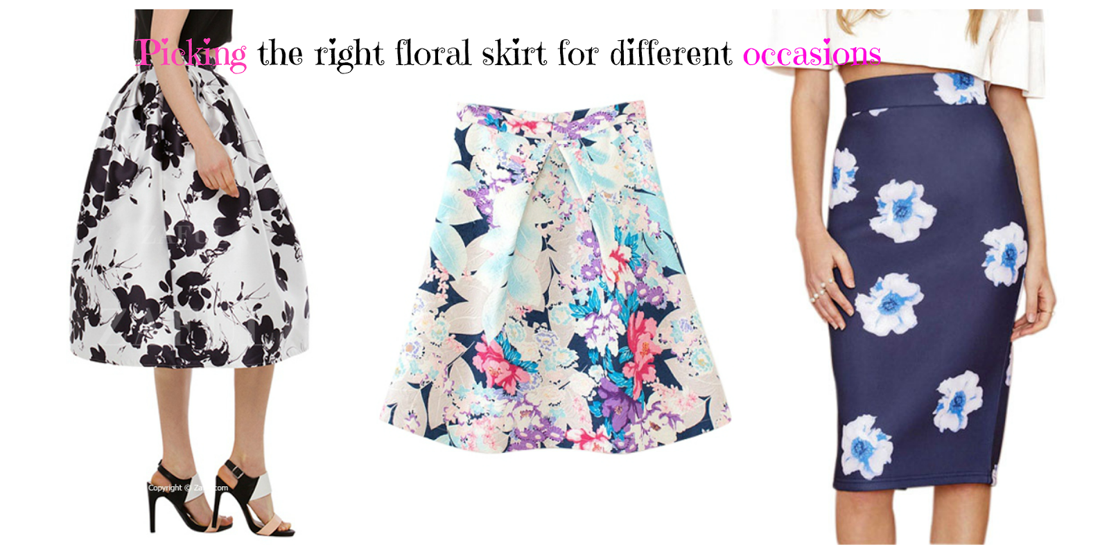 Rethink the way you pick your floral skirts when going to an event.