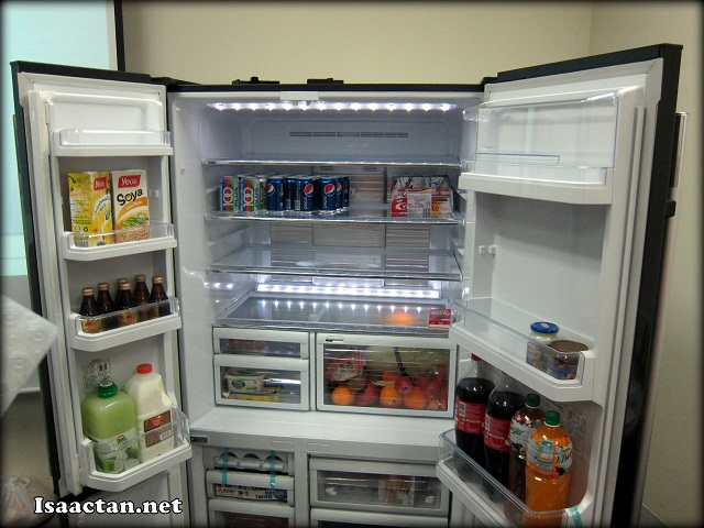 The large L4 Grande Refrigerator with it's unique french door design