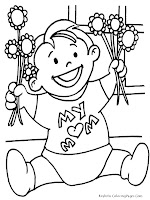 Printable Mothers Day Coloring Pages