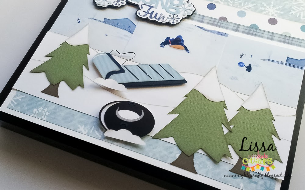 Sledding Fun layout with Miss Kate Cuttables