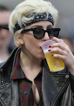 Lady Gaga is on a 'drunk diet'