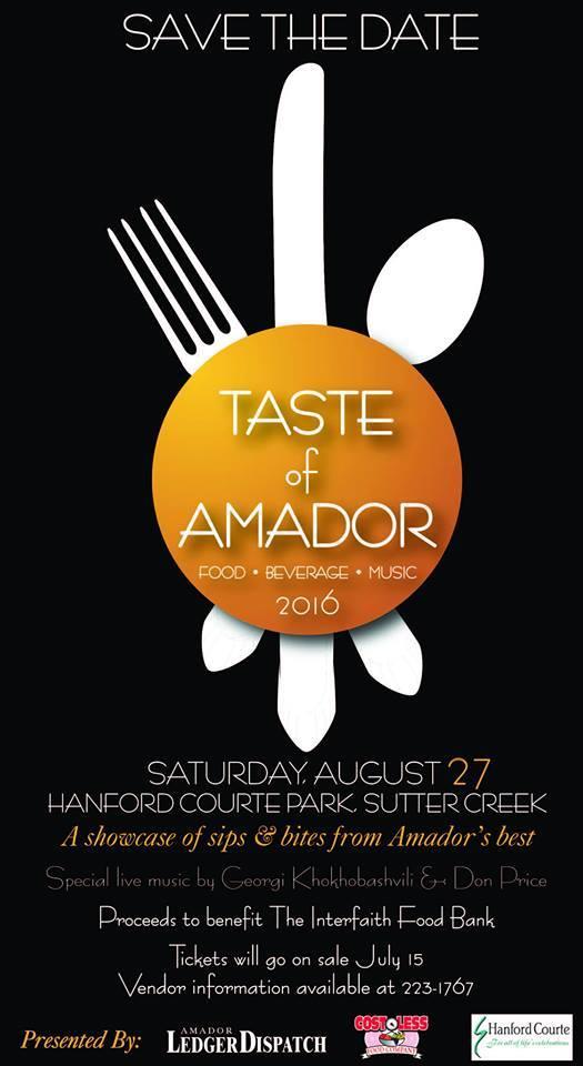 Taste of Amador - Sat Aug 27