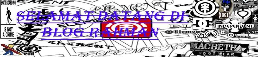 Selamat Datang Di Blog RAHMAN