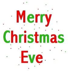 Celebrating The Seasons: Merry Christmas Eve.