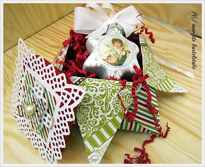 margits bastelstube origami weihnachts box ii. Black Bedroom Furniture Sets. Home Design Ideas