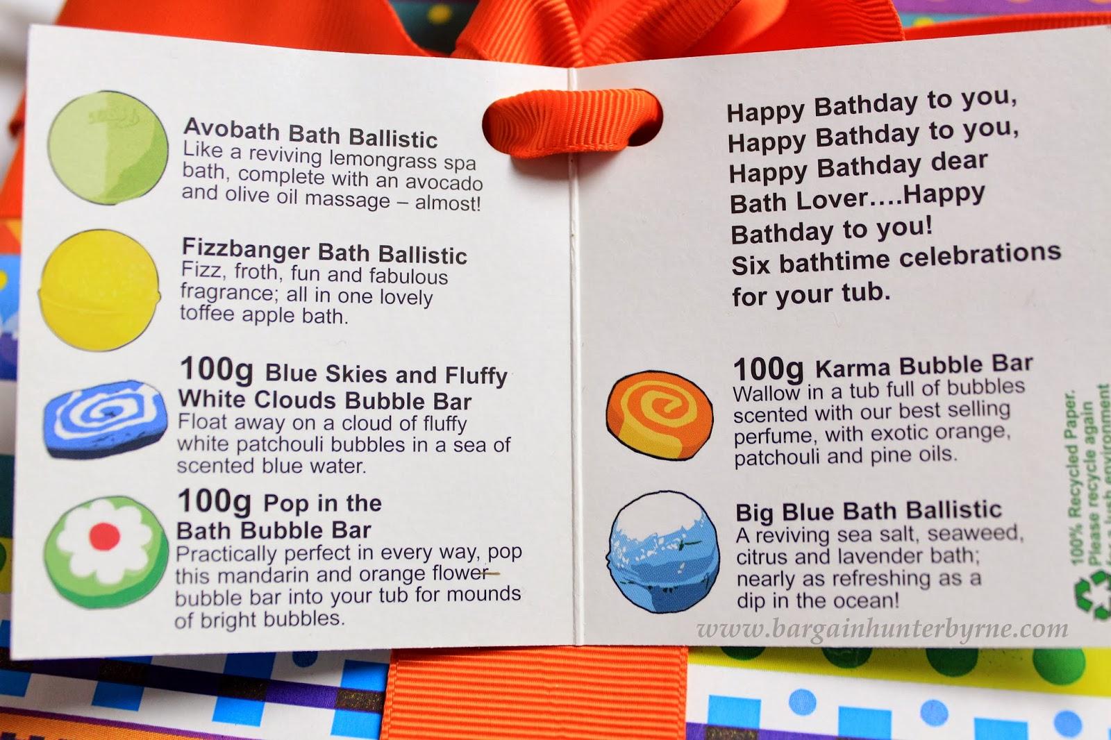 Eimear McElheron : Lush Happy Bathday Gift Box