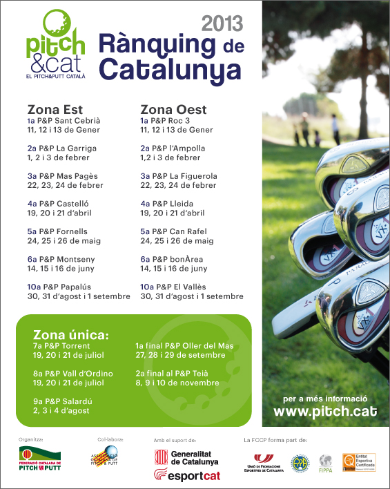 Ranking Pitch & Putt Cataluña 2013