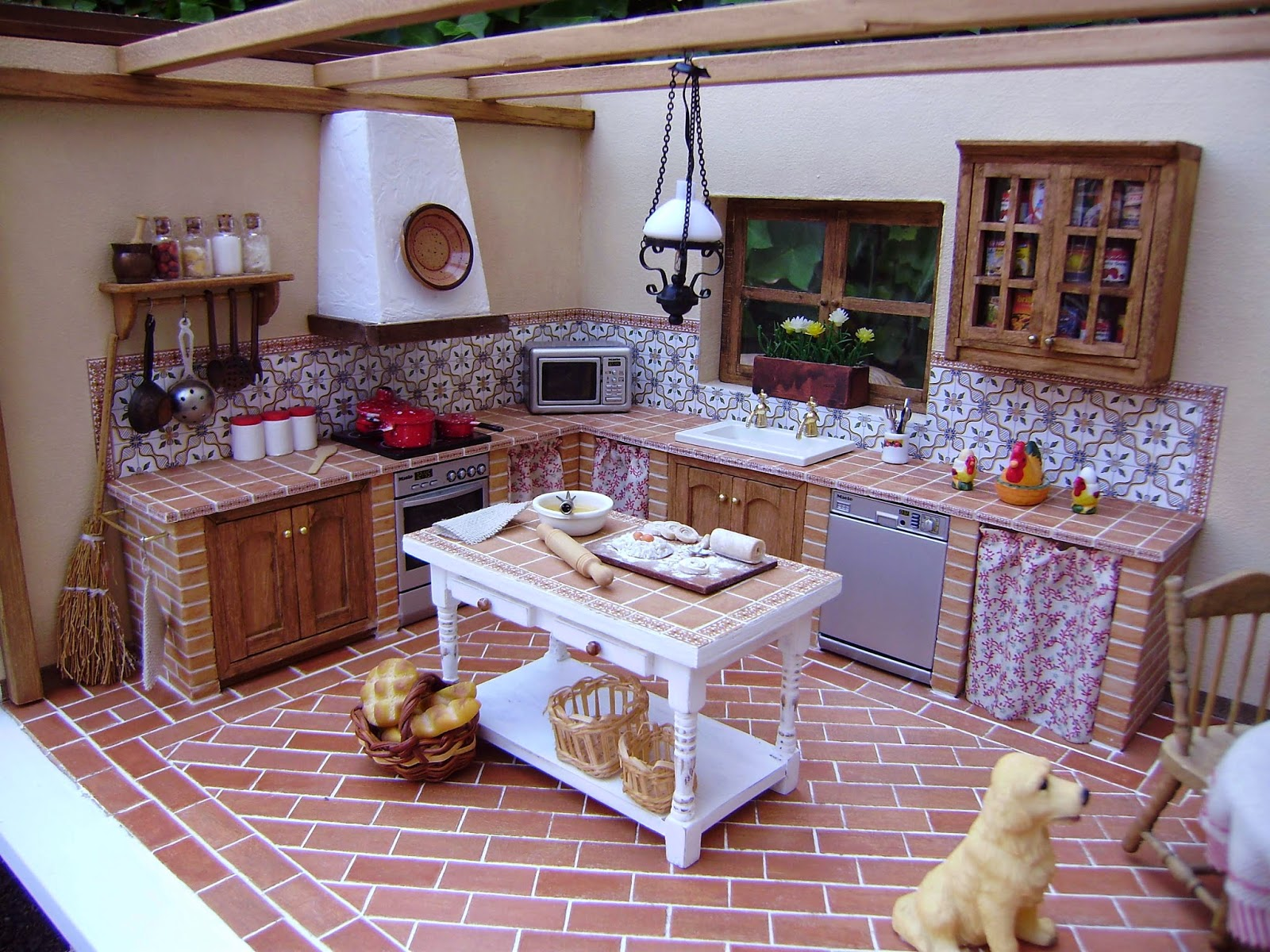 Mi nueva cocina r stica sin parar de trastear - Cocinas rusticas de obra pequenas ...