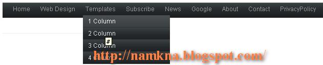 Superb CSS Menudrop cho Bloggers - Menu DropDown 1 cấp cho blogspot Style6