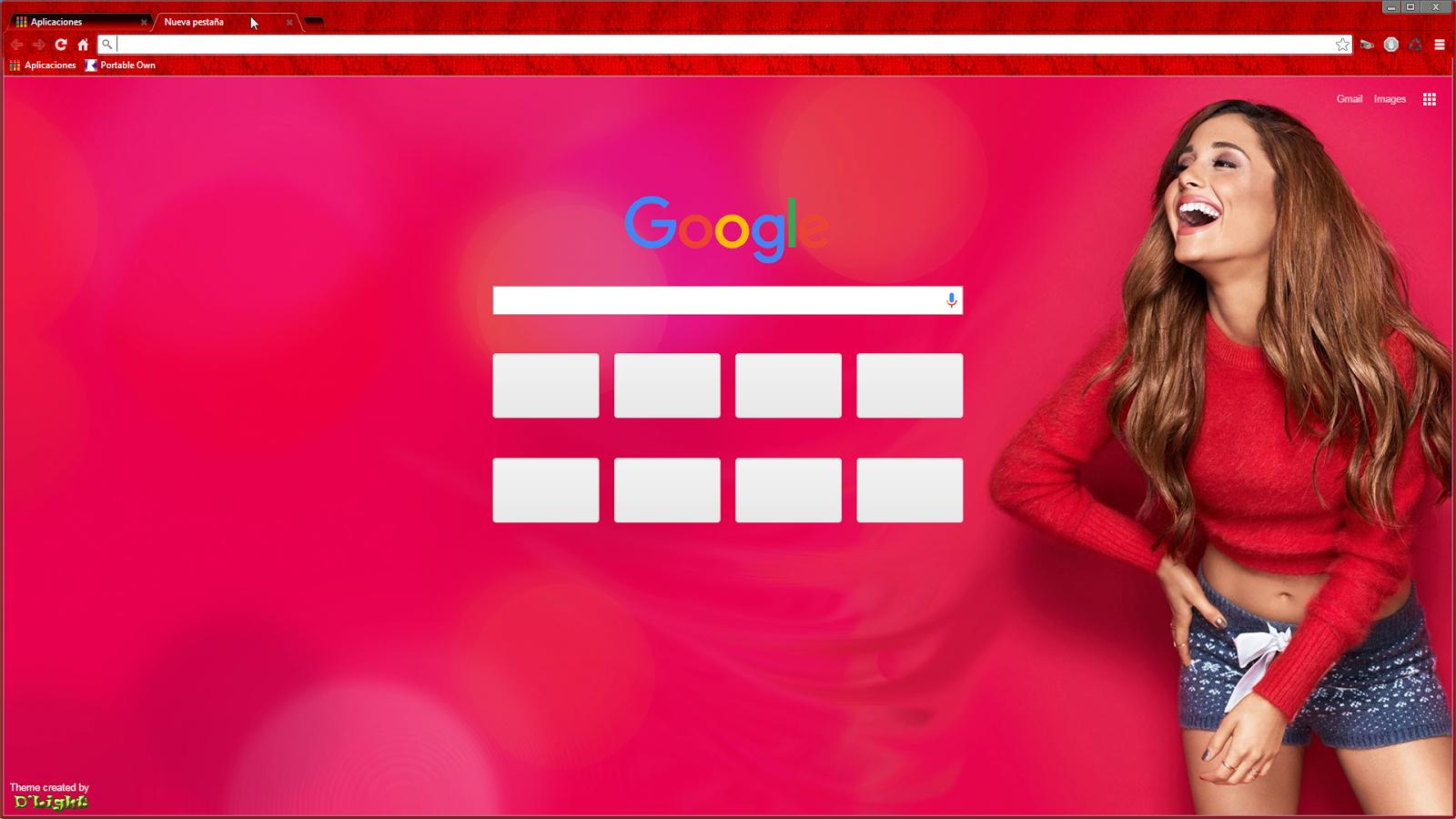 Google themes browser - Ariana Grande Segundo Tema Para Navegador Google Chrome