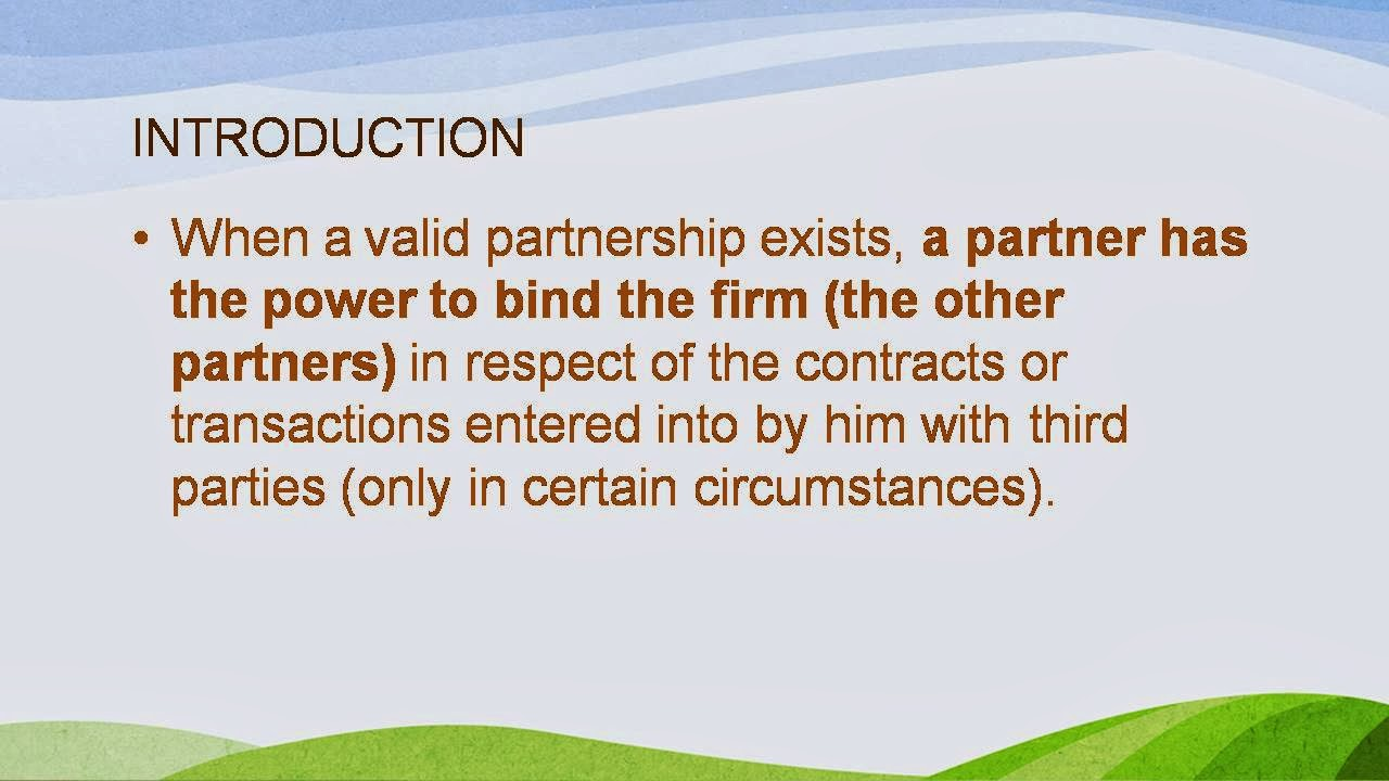 agency relationship between partners in a Anatomy of an agency relationship  is where many issues can arise if the agreement between the company and the channel partner is not clear regarding the partner's .