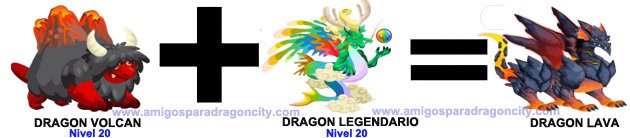 como sacar el dragon lava en dragon city