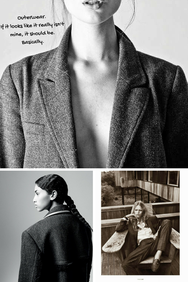 Outerwear by Josh Olins for The Gentlewoman & Andrea Spotorno for Vogue Paris | Ses Rêveries