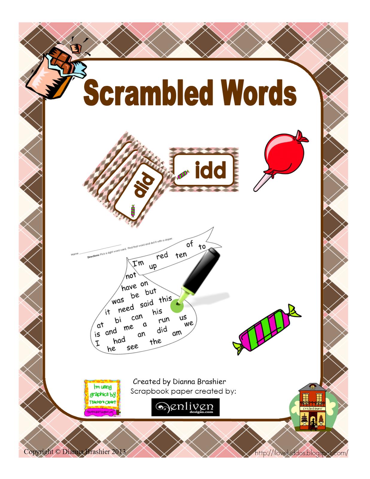 teachers r us candy sight word activities teacherspayteachers com product candy sight middot scrambled words