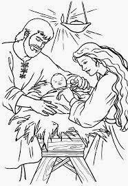 Nacimientos Navideños para Colorear, parte 1