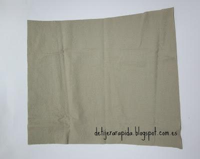 Hacer bolsa para lenceria