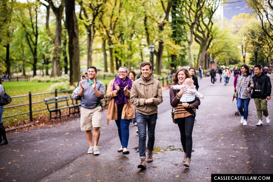 Lifestyle Engagement Portraits in Central Park, Congratulations from passersby - www.cassiecastellaw.com