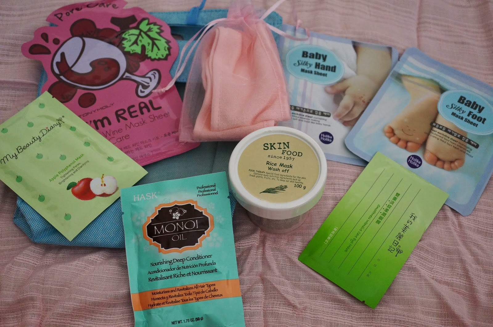 beauteque august head to toe spa bag masks skinfood rice wash off my beauty diary apple