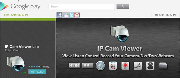 app review ip cam viewer lite android app up 2 date. Black Bedroom Furniture Sets. Home Design Ideas