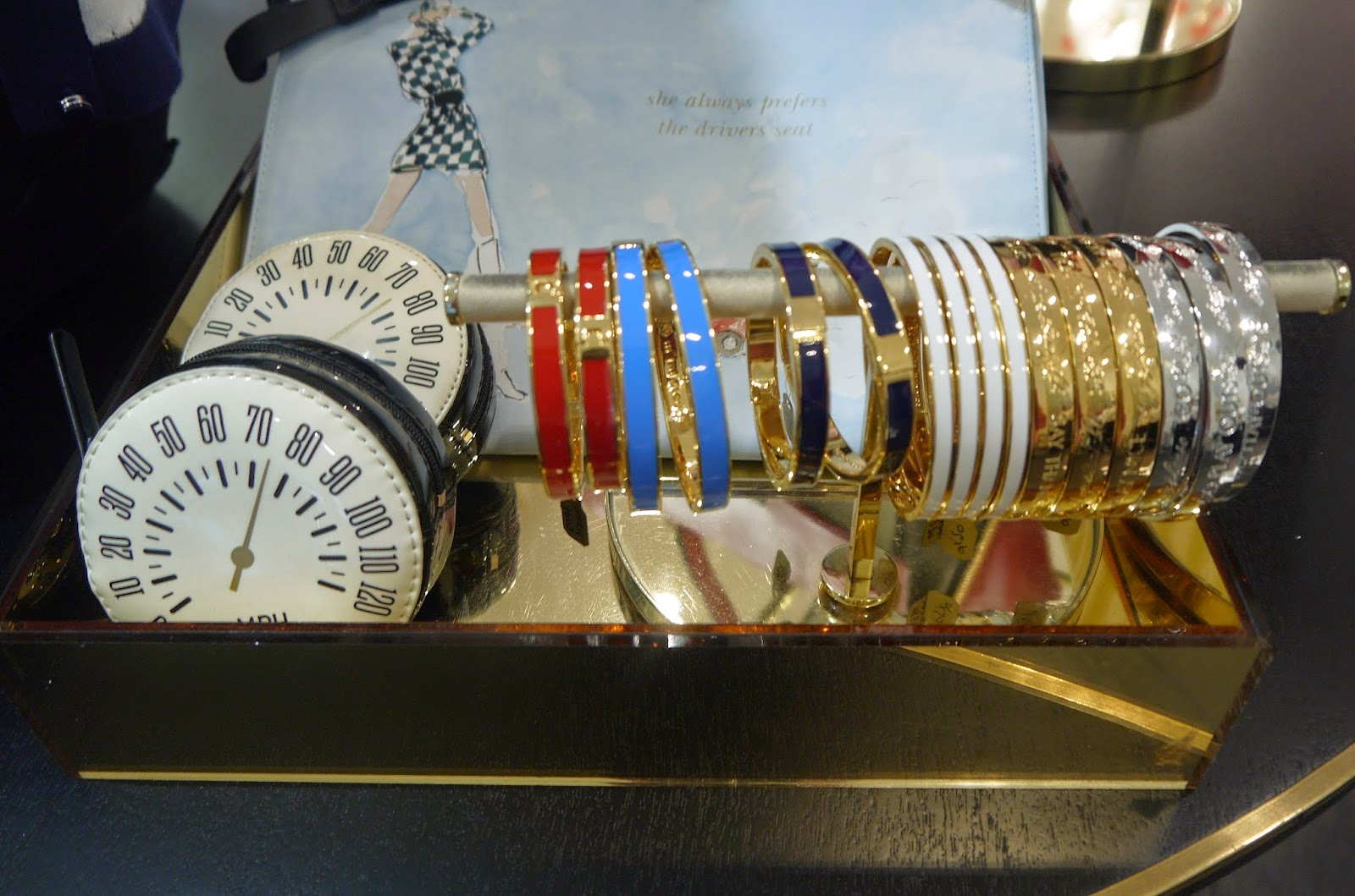 Bangles on Display at the Kate Spade Event