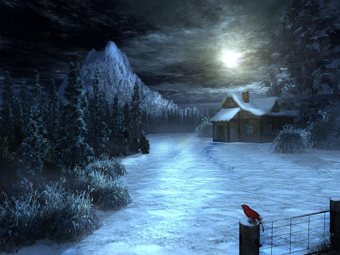 Mixed Creativity - The Art Of John Molino: Bright Winter Night
