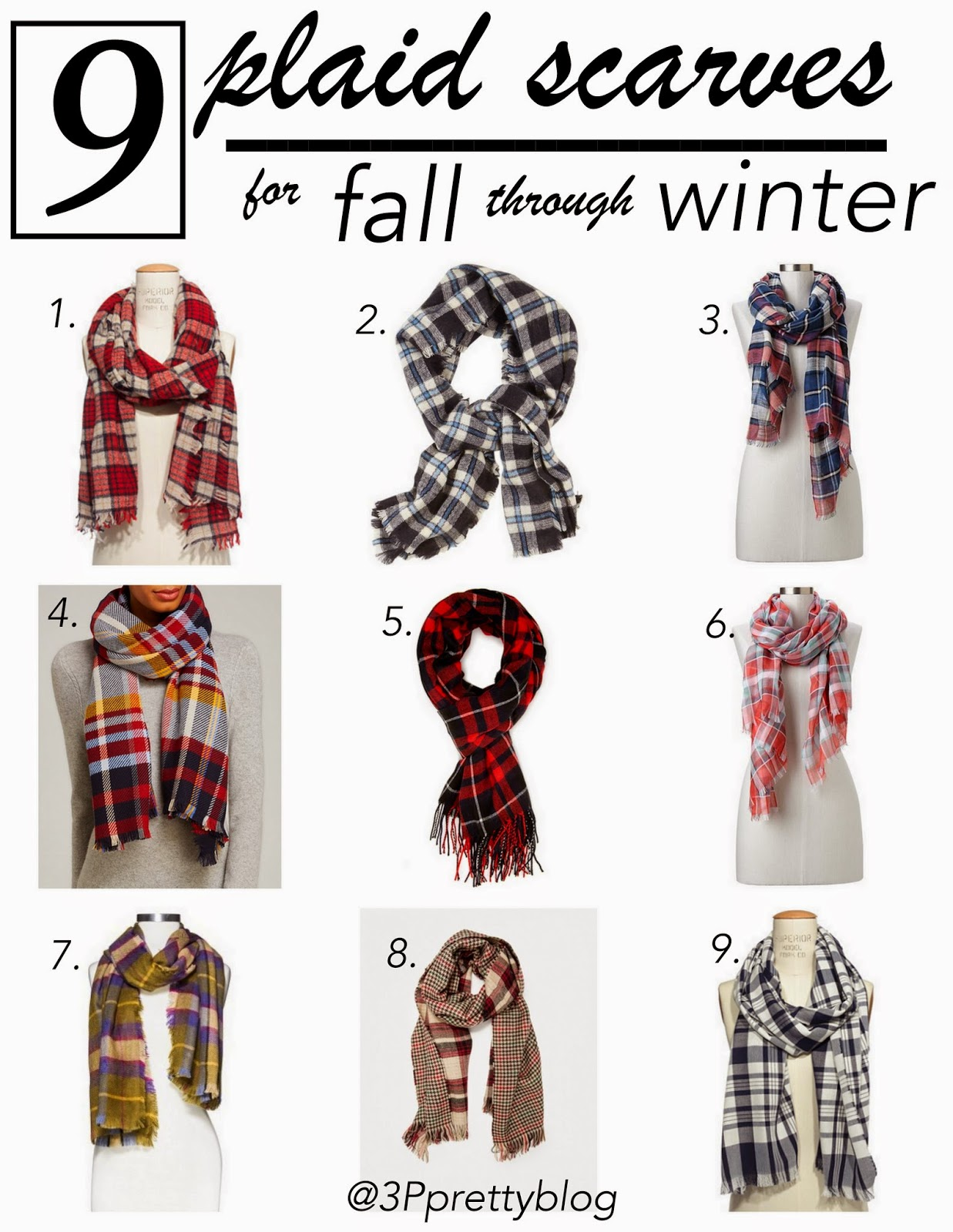 9 plaid scarves for fall