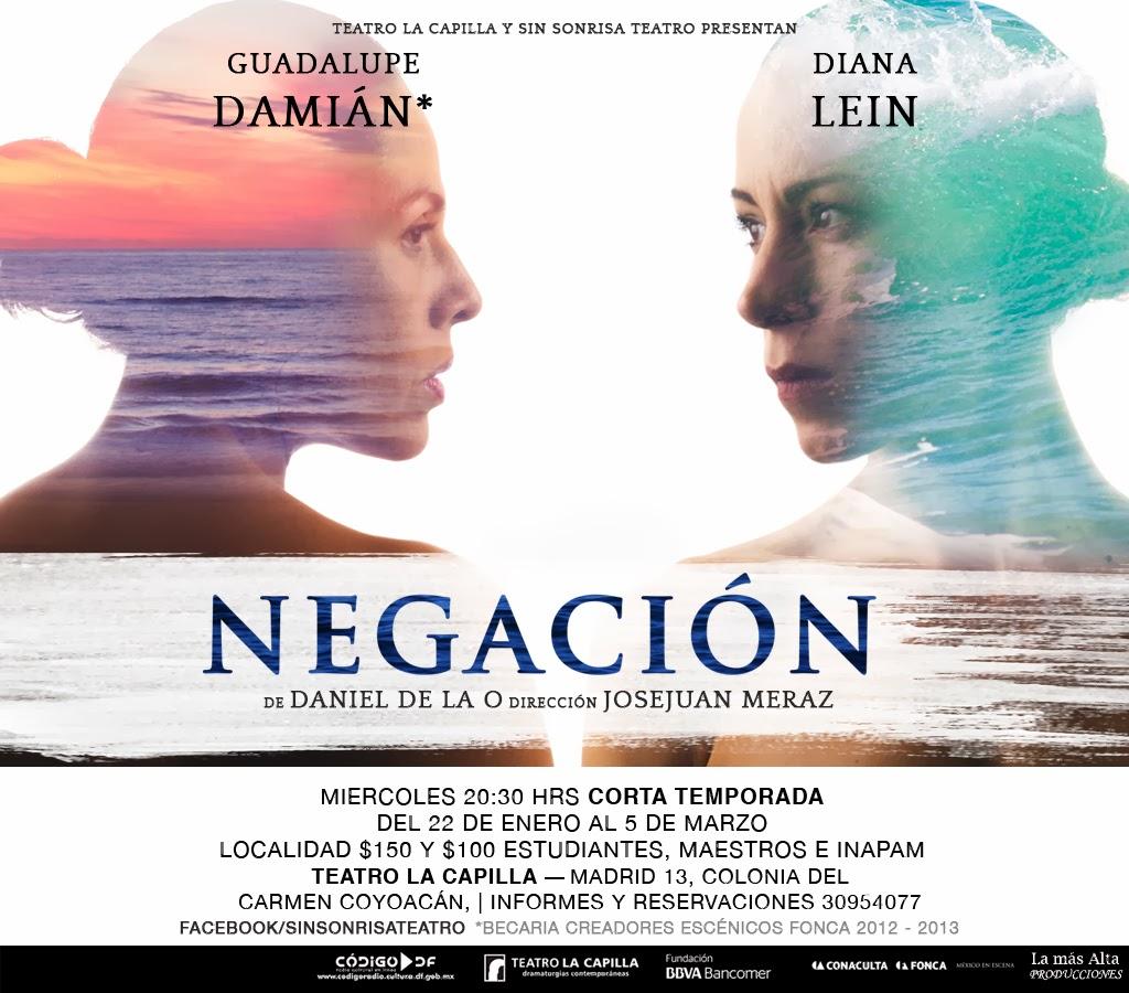 """Corta temporada de """"Negación"""" en el Teatro La Capilla"""